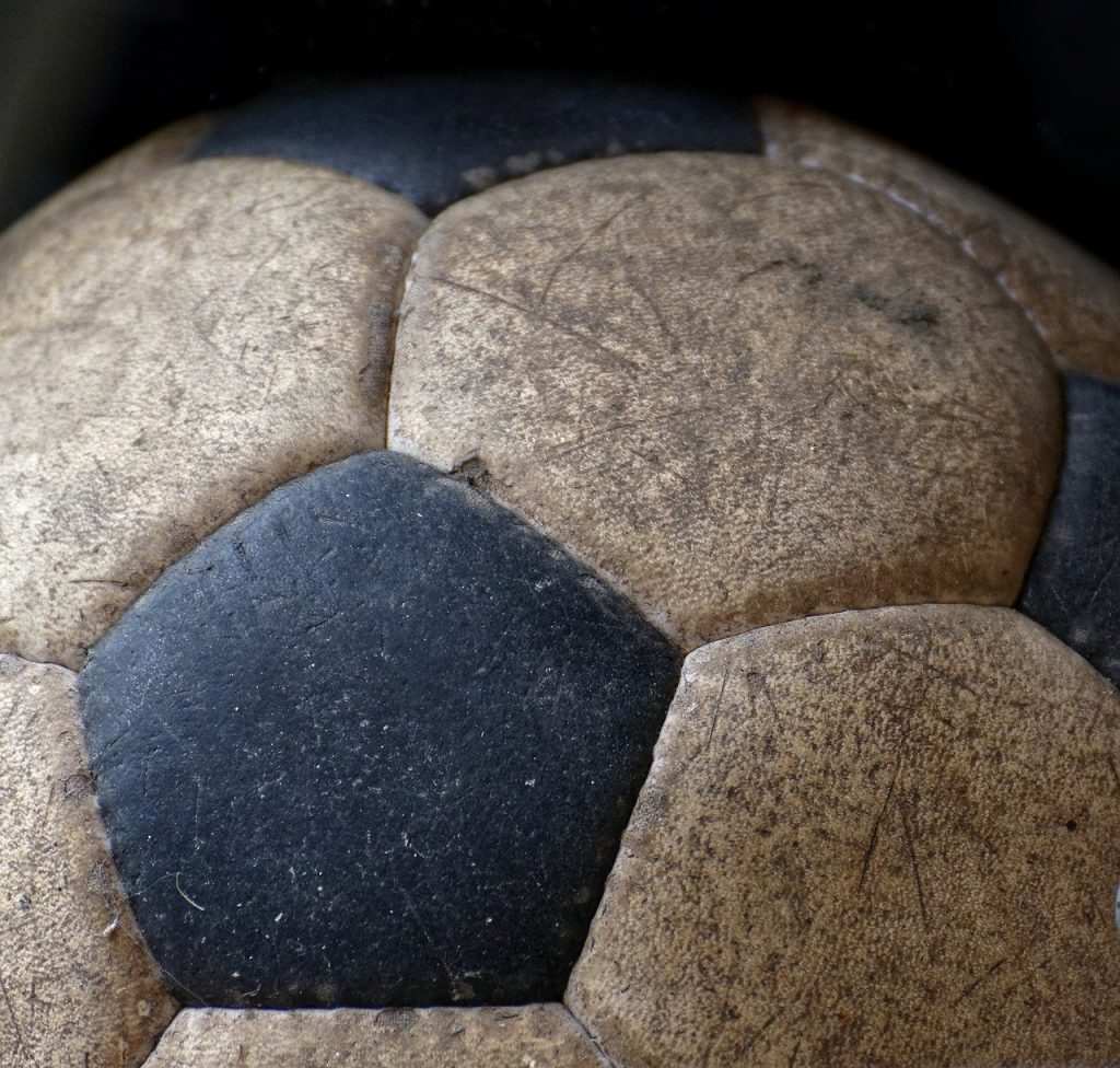 soccer, 70s, leather ball