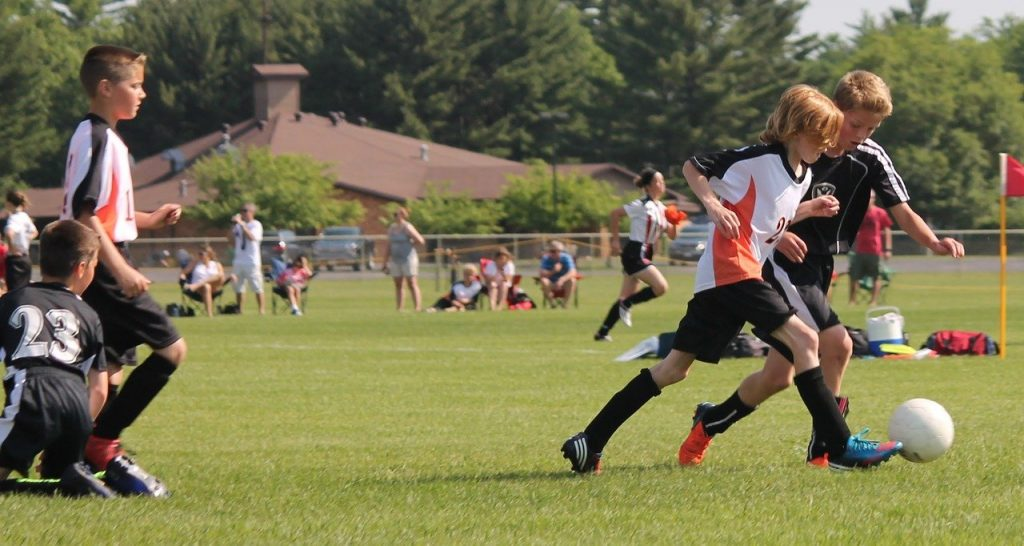 youth, soccer, game